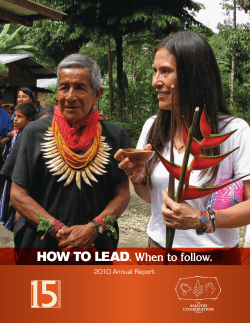 How to lead  When to follow. 2010 Annual Report