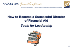 How to Become a Successful Director of Financial Aid Tools for Leadership