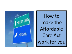 How to make the Affordable Care Act