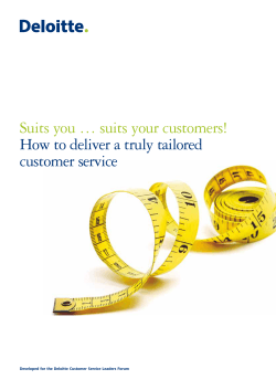 Suits you … suits your customers! customer service