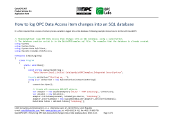 How to log OPC Data Access item changes into an...