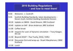 2010 Building Regulations - and how to meet them!