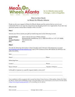 How to Give Stock to Meals On Wheels Atlanta
