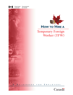 H Temporary Foreign Worker (TFW) OW TO