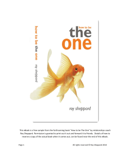 This eBook is a free sample from the forthcoming book... Roy Sheppard. Permission is granted to print out it out...