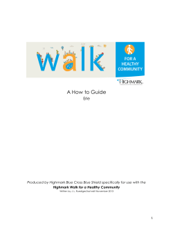 A How to Guide Erie Highmark Walk for a Healthy Community
