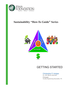 "GETTING STARTED Sustainability ""How-To Guide"" Series Christopher P. Hodges"