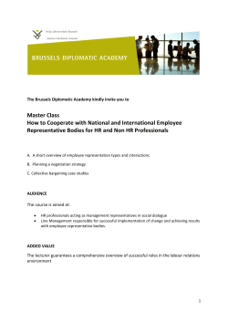 Master Class How to Cooperate with National and International Employee