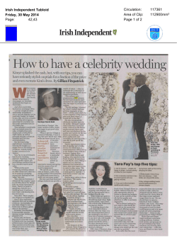 How to have a celebrity wedding