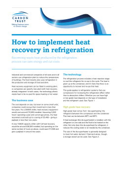 How to implement heat recovery in refrigeration
