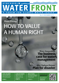 water front HOW TO VALUE A HUMAN RIGHT