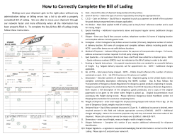 How to Correctly Complete the Bill of Lading