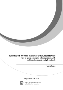 TOWARDS THE DYNAMIC PARADIGM OF FUTURES RESEARCH
