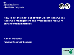 How to get the most out of your Oil Rim... Reservoir management and hydrocarbon recovery enhancement initiatives