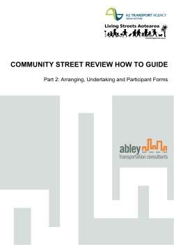 COMMUNITY STREET REVIEW HOW TO GUIDE