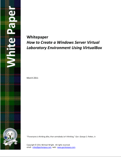 Whitepaper    How to Create a Windows Server Virtual  Laboratory Environment Using VirtualBox