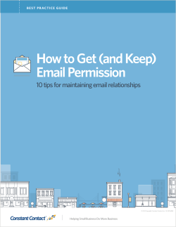 How to Get (and Keep) Email Permission BEST PRACTICE GUIDE