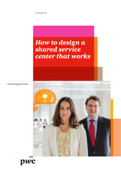 How to design a shared service center that works Consulting Services
