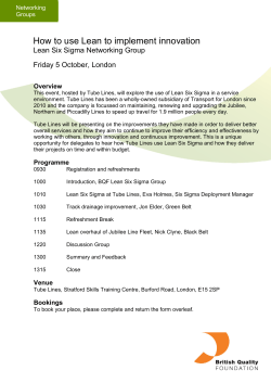 How to use Lean to implement innovation Friday 5 October, London