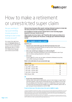 How to make a retirement or unrestricted super claim