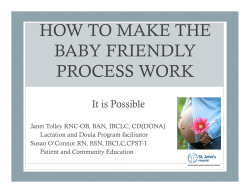 HOW TO MAKE THE BABY FRIENDLY PROCESS WORK It is Possible
