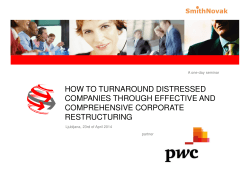 HOW TO TURNAROUND DISTRESSED COMPANIES THROUGH EFFECTIVE AND COMPREHENSIVE CORPORATE RESTRUCTURING