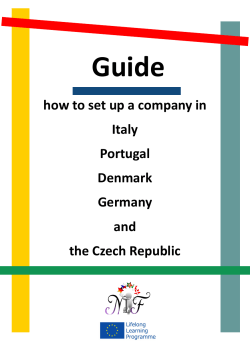 Guide how to set up a company in Italy Portugal