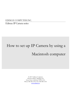 How to set up IP Camera by using a Macintosh computer