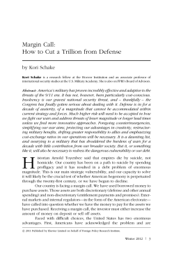 Margin Call: How to Cut a Trillion from Defense by Kori Schake