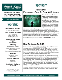 New Series! Face To Face With Jesus Joining God and Others