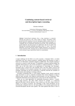 Combining content-based retrieval and description logics reasoning  Christine Golbreich