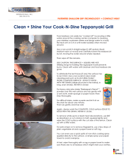 Clean + Shine Your Cook-N-Dine Teppanyaki Grill