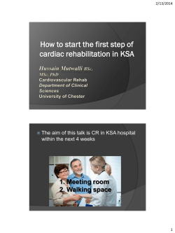 How to start the first step of cardiac rehabilitation in KSA
