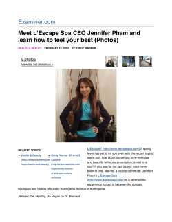 Examiner.com Meet L'Escape Spa CEO Jennifer Pham and 5 photos