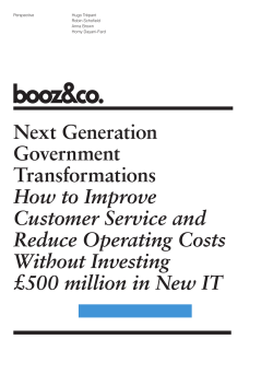 Next Generation Government Transformations How to Improve