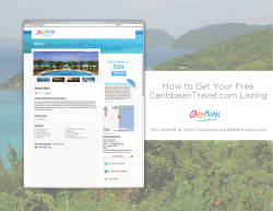 How to Get Your Free CaribbeanTravel.com Listing Get started at