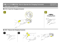 / How to Operate the Charging Connector 73FD-1C01