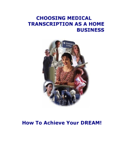 CHOOSING MEDICAL TRANSCRIPTION AS A HOME BUSINESS