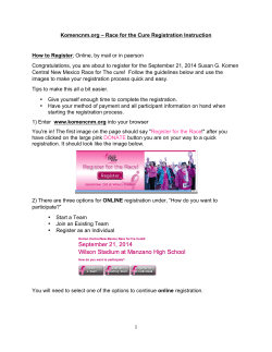 Komencnm.org – Race for the Cure Registration Instruction How to Register