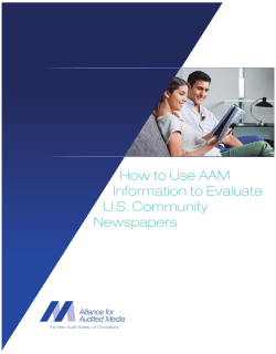 How to Use AAM Information to Evaluate U.S. Community