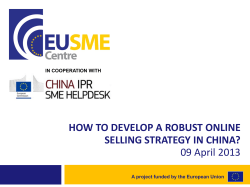 HOW TO DEVELOP A ROBUST ONLINE SELLING STRATEGY IN CHINA?