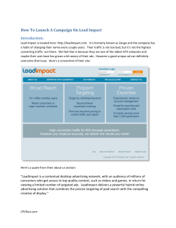 How To Launch A Campaign On Lead Impact Introduction: