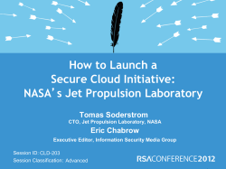 How to Launch a Secure Cloud Initiative: NASA Tomas