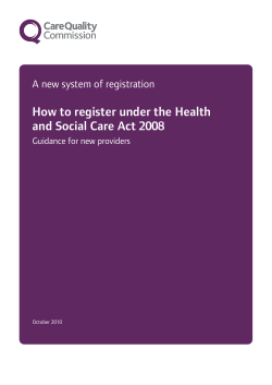 How to register under the Health and Social Care Act 2008