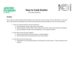 How to Cook Kosher The Laws of Kashrut