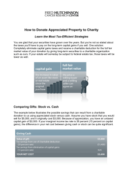 How to Donate Appreciated Property to Charity