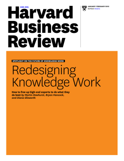 Redesigning Knowledge Work by Martin Dewhurst, Bryan Hancock,