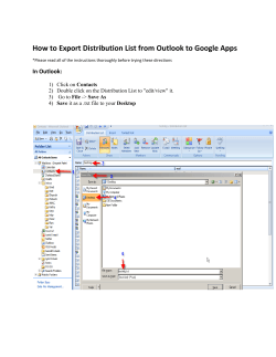 How to Export Distribution List from Outlook to Google Apps Contacts