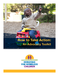 How to Take Action: An Advocacy Toolkit