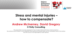 Stress and mental injuries – how to compensate? Andrew McInerney, David Gregory